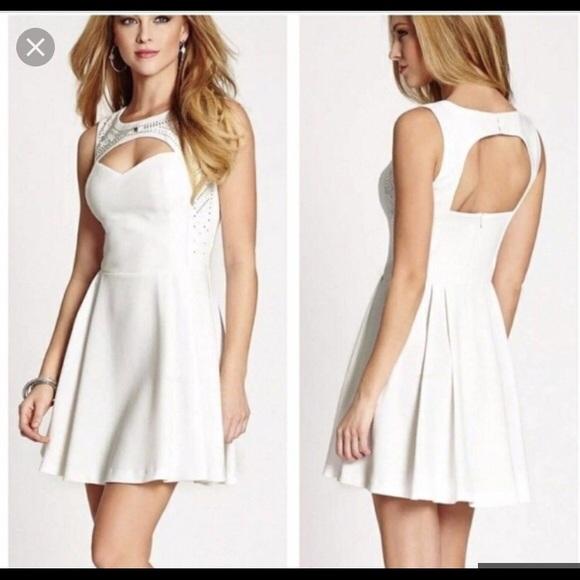 1b5d08d0b6f Guess Dresses | Sexy Little White Dress With Jewels | Poshmark